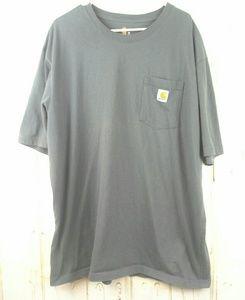 NWOT Carhartt Original Fit Pocketed Tee Gray Sz XL